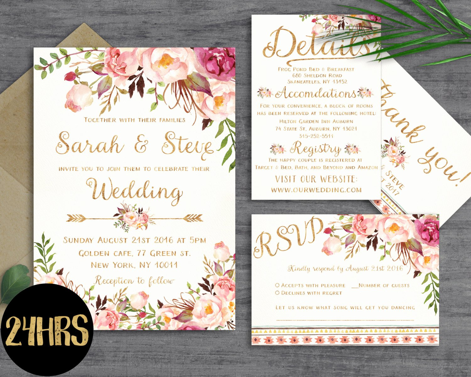 Wedding Invitations List Template Inspirational Floral Wedding Invitation Template Wedding Invitation