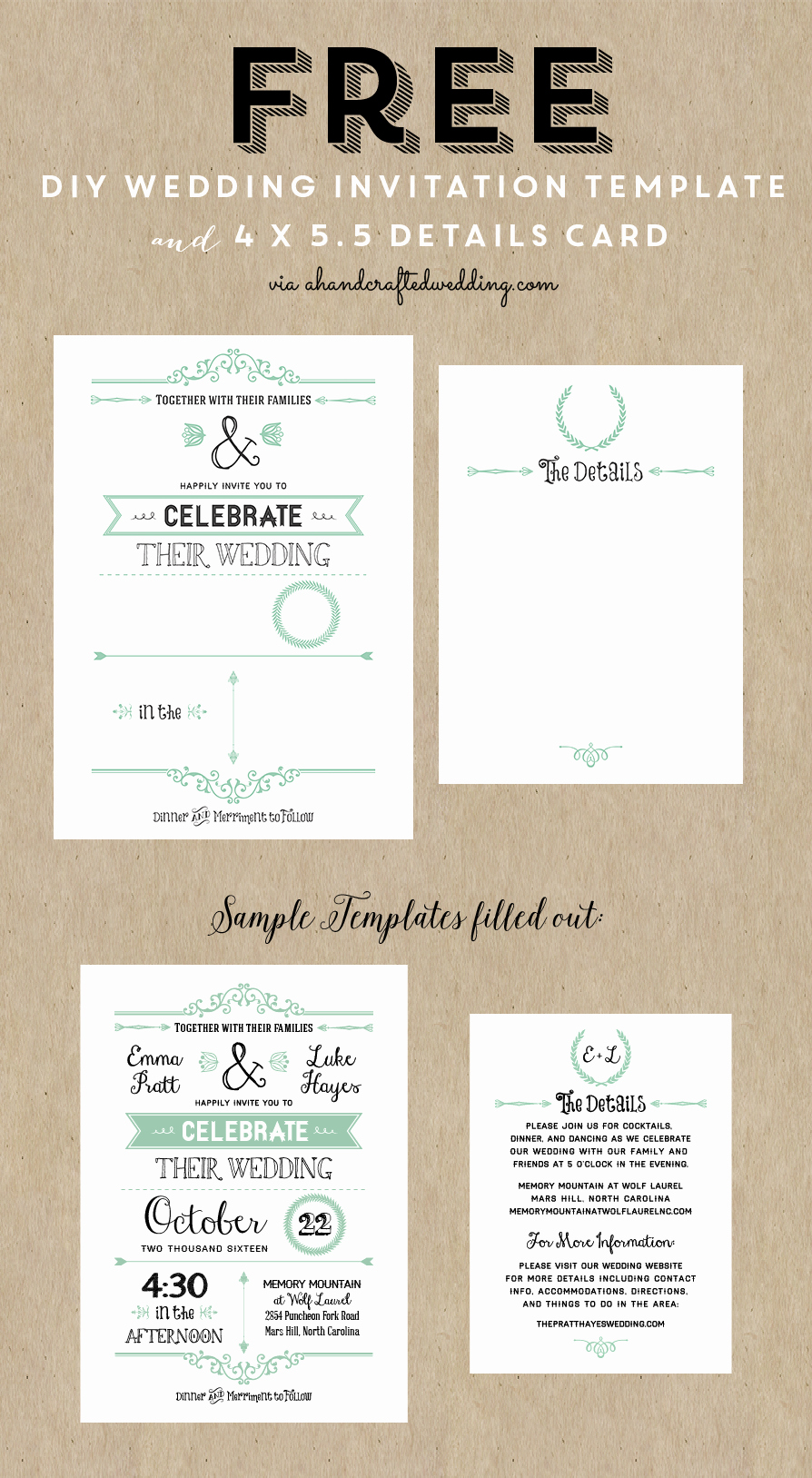 Wedding Invitations List Template Lovely Best 25 Free Wedding Invitation Templates Ideas On