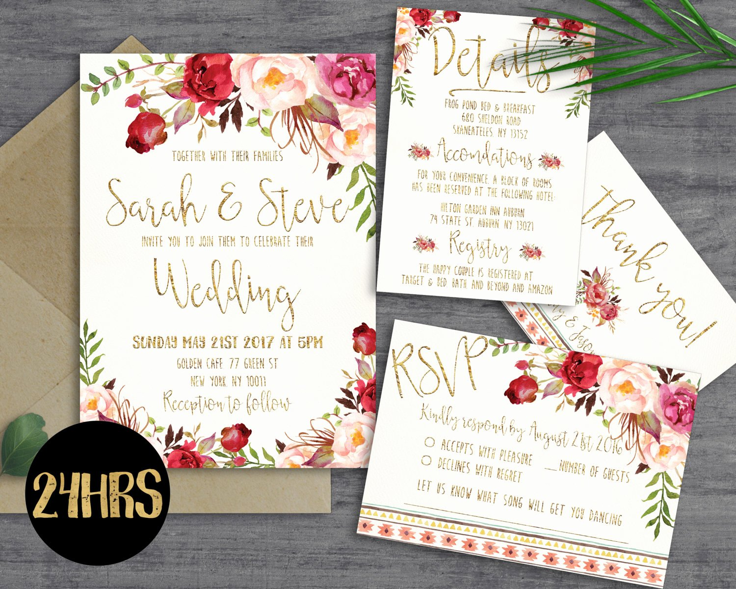 Wedding Invitations List Template Lovely Printable Wedding Invitation Wedding Invitations Set