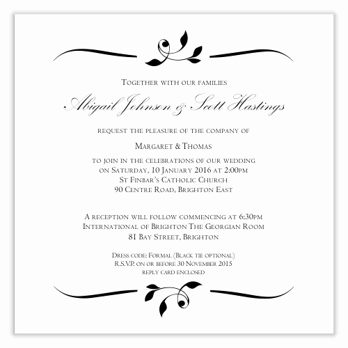 Wedding Invitations List Template Luxury Bud Wedding Invitations Template Invitation Wedding