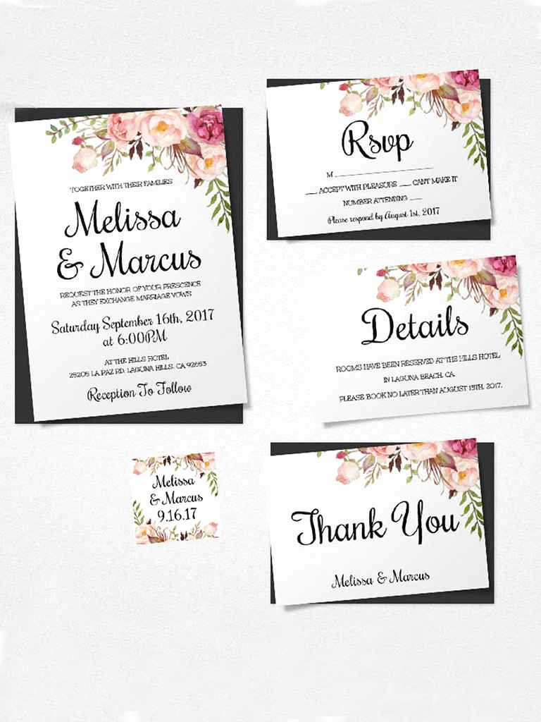 Wedding Invitations List Template New 16 Printable Wedding Invitation Templates You Can Diy