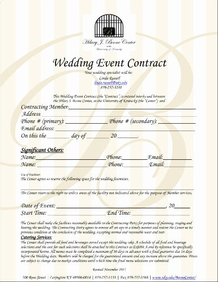 Wedding Planners Contract Template Beautiful 6 Wedding Planner Contract Templates