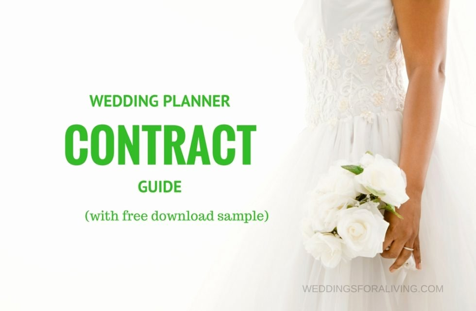 Wedding Planners Contract Template Inspirational Free Sample Wedding Planner Contract