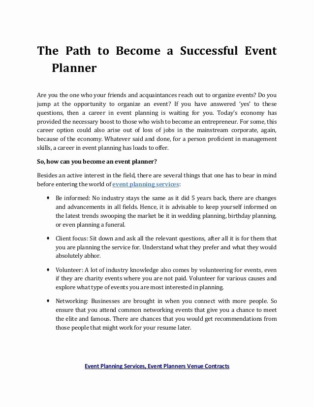 Wedding Planners Contract Template New event Planning Services event Planners Venue Contracts