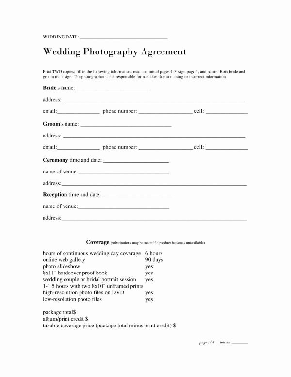 Wedding Planners Contract Template New Free 11 Wedding Planner Contract Template In Pdf