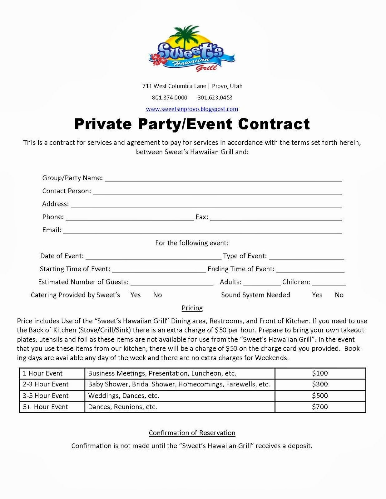 Wedding Planning Contract Templates Fresh Party Planner Contract Template Google Search