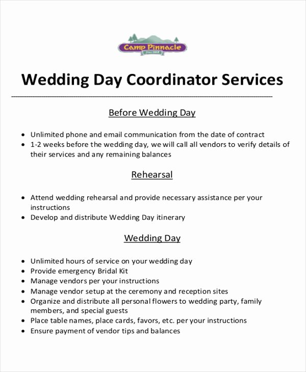 Wedding Planning Contract Templates Luxury event Planner Contract Sample 6 Examples In Word Pdf