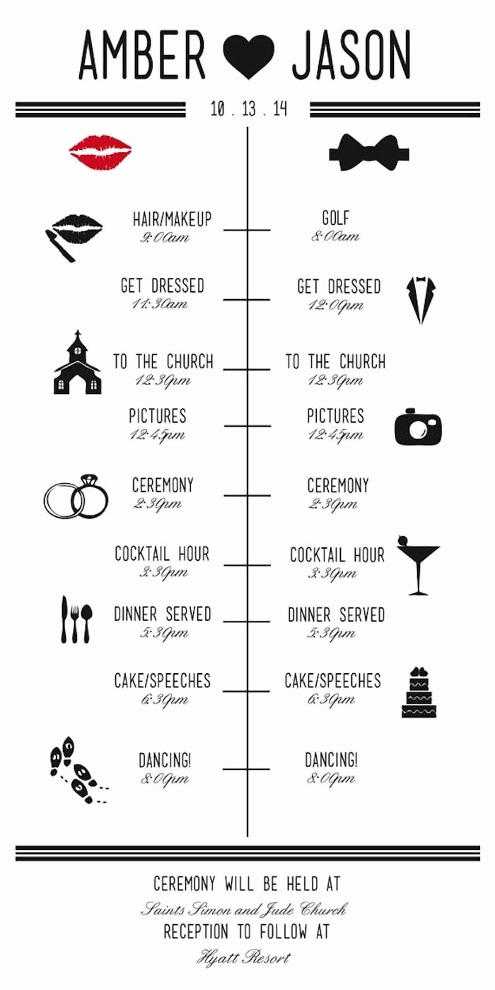 Wedding Reception Timeline Template Best Of Wedding Reception Timeline Planning Guide