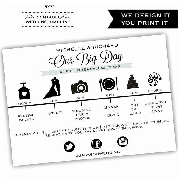 Wedding Reception Timeline Template Elegant 29 Wedding Timeline Template Word Excel Pdf Psd