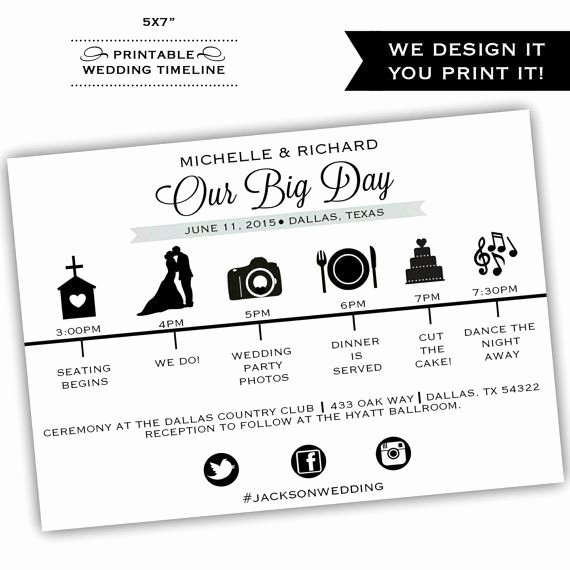 Wedding Reception Timeline Template Elegant Best 25 Wedding Itinerary Template Ideas On Pinterest