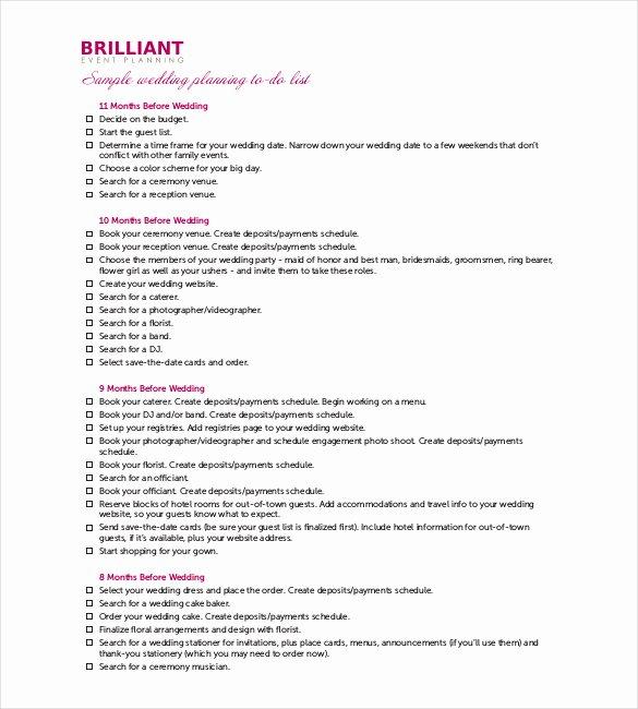 Wedding Reception Timeline Template Fresh 29 Wedding Timeline Template Word Excel Pdf Psd