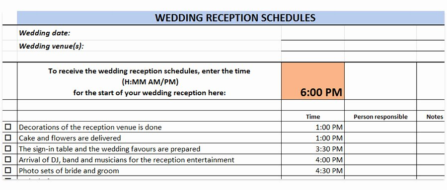 Wedding Reception Timeline Template Lovely Wedding Reception Schedules Wedding Reception Timeline