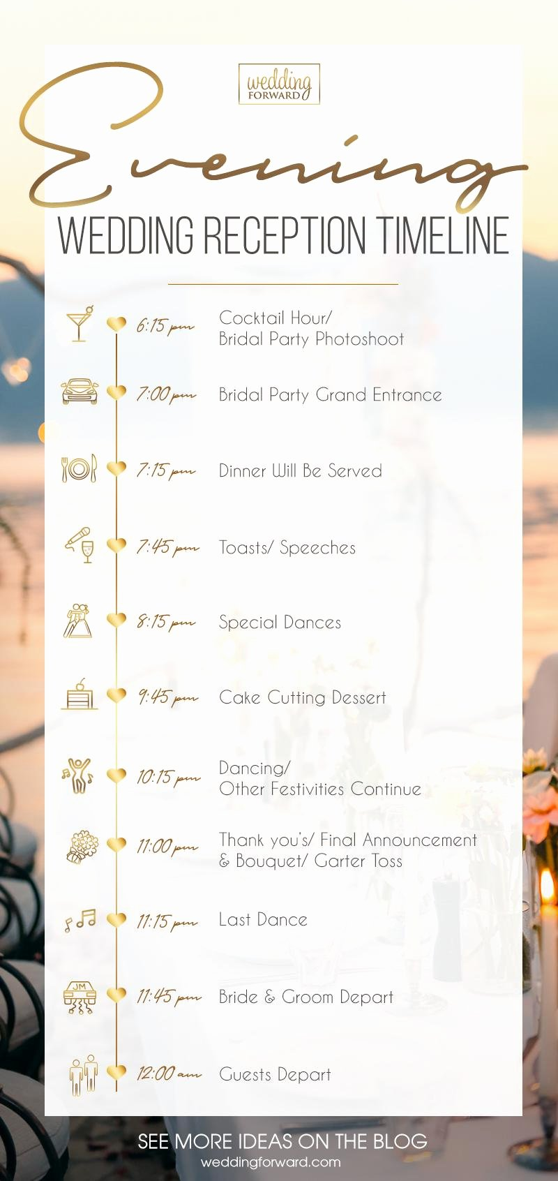 Wedding Reception Timeline Template Lovely Wedding Reception Timeline Expert Tips to Create & 3