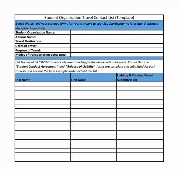 Wedding Vendor Contact List Template Beautiful Contact List Template 14 Download Free Documents In Pdf