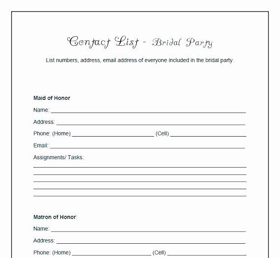 Wedding Vendor Contact List Template Lovely Vendor Contact List Template – Chanceinc