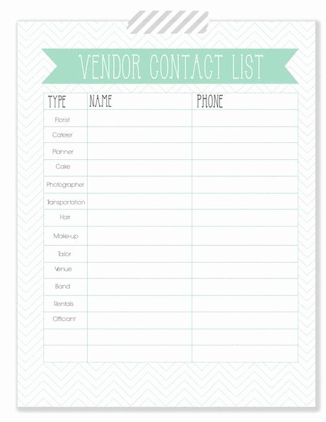 Wedding Vendors List Template Best Of the Woodlands Wedding Blog Wedding Planner Vendor Contact