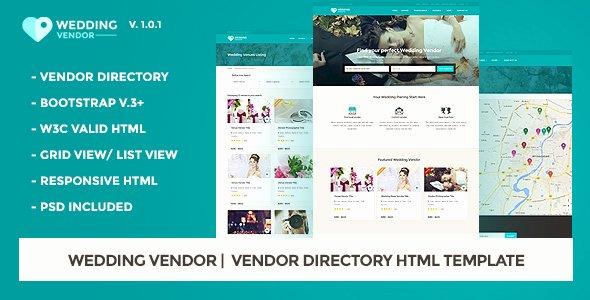 Wedding Vendors List Template Elegant Vendor Directory HTML Template