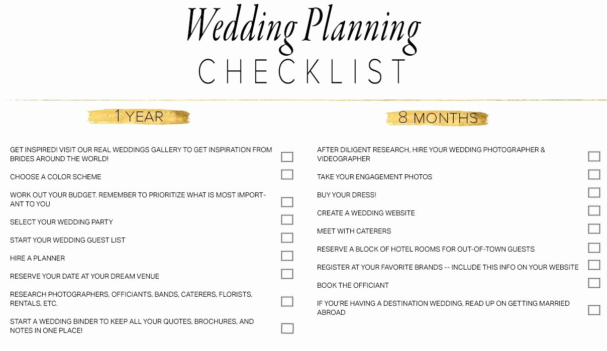 Wedding Vendors List Template Lovely 11 Free Printable Wedding Planning Checklists