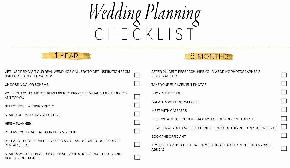 Wedding Vendors List Template Lovely 11 Free Printable Wedding Planning Checklists