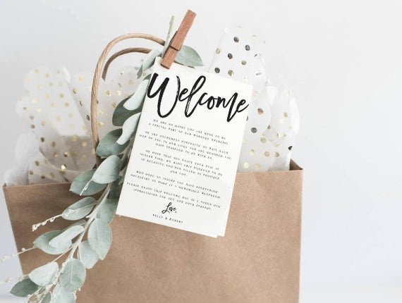 Wedding Welcome Letter Template Free Awesome Black and White Wel E Wedding Letter Template Wel E Note