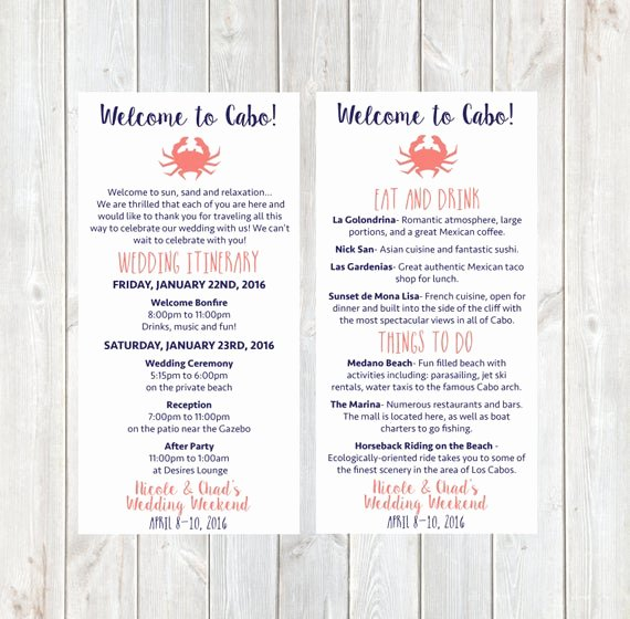 Wedding Welcome Letter Template Free Awesome Items Similar to Wel E Letter Wedding Itinerary