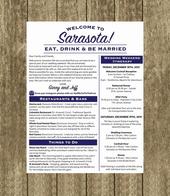 Wedding Welcome Letter Template Free Best Of Best 25 Destination Wedding Itinerary Ideas On Pinterest
