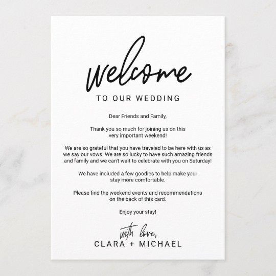 Wedding Welcome Letter Template Free Fresh Whimsical Calligraphy Wedding Wel E Letter Program