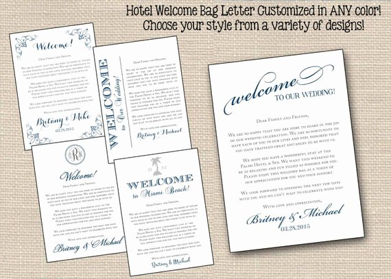 Wedding Welcome Letter Template Free Inspirational Wedding Wel E Letter Note Printable Hotel by