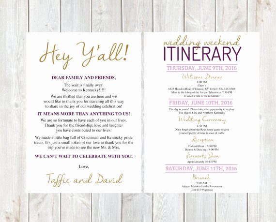 Wedding Welcome Letter Template Free Inspirational Wel E Letter Wedding Wel E Letter Wedding Itinerary