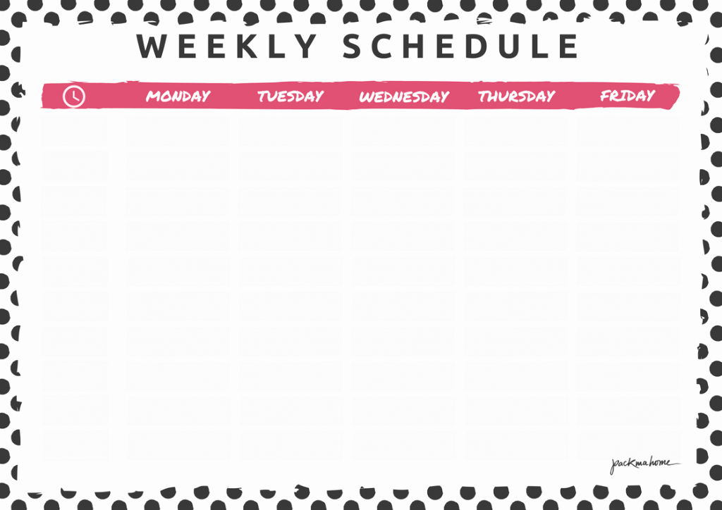 Week Schedule Template Pdf Lovely Big Announcement Weekly Planner & Schedule Freebies