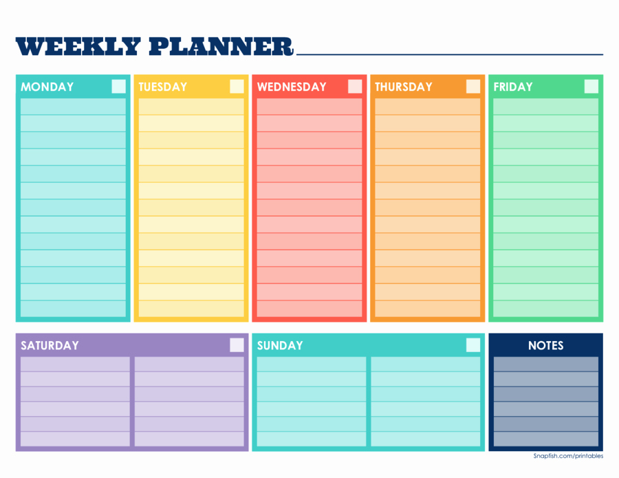 Week Schedule Template Pdf Luxury 2019 Weekly Planner Template Fillable Printable Pdf