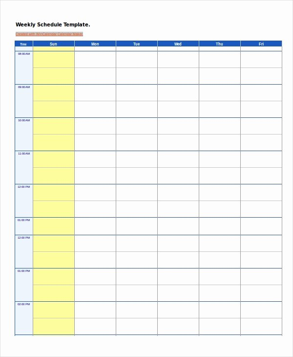 Week Schedule Template Pdf Luxury Work Schedule 14 Free Pdf Word Excel Documents