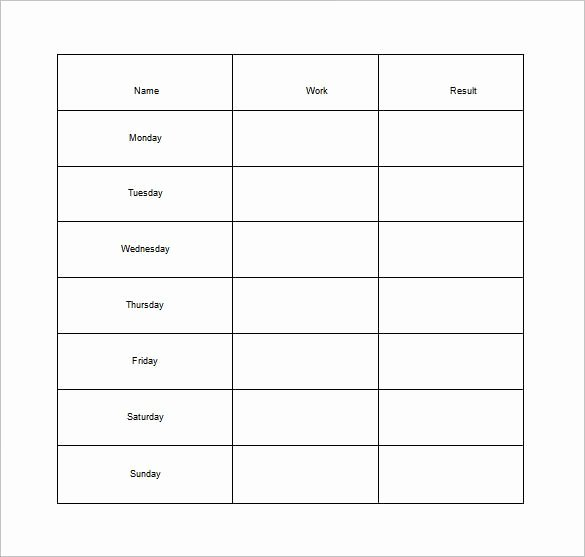 Weekly Chore Chart Template Luxury How to Make Good Schedule Using 5 Chore List Template Types