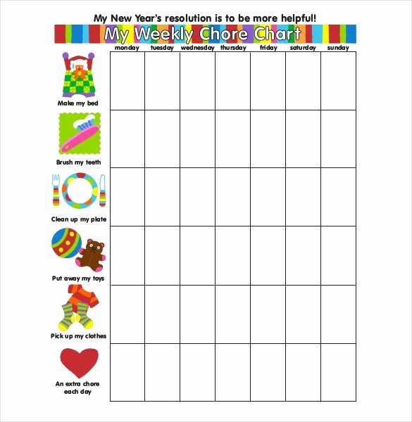 Weekly Chore Chart Templates Awesome How to Make Good Schedule Using 5 Chore List Template Types