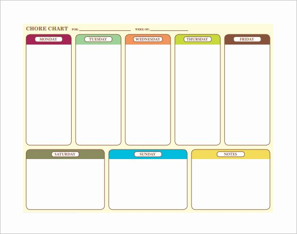 Weekly Chore Chart Templates Awesome Weekly Chore Chart Template 24 Free Word Excel Pdf