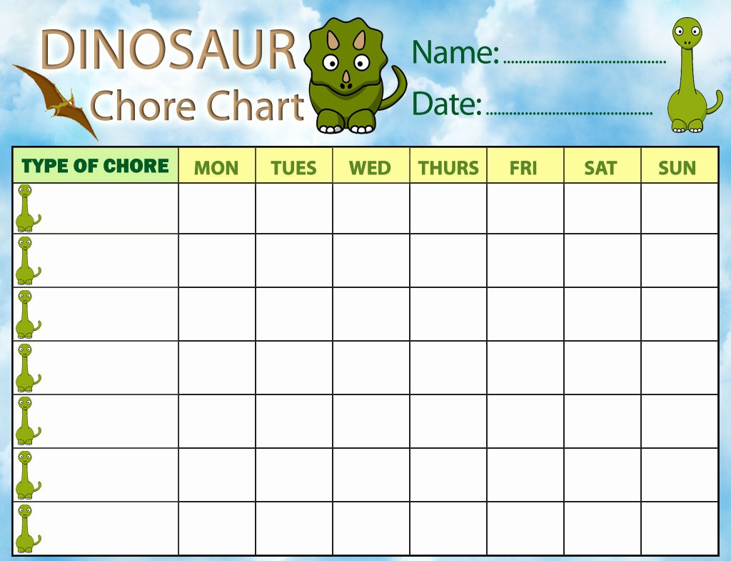 Weekly Chore Chart Templates Lovely Chore Charts – Printable Cute Chore Charts for Kids