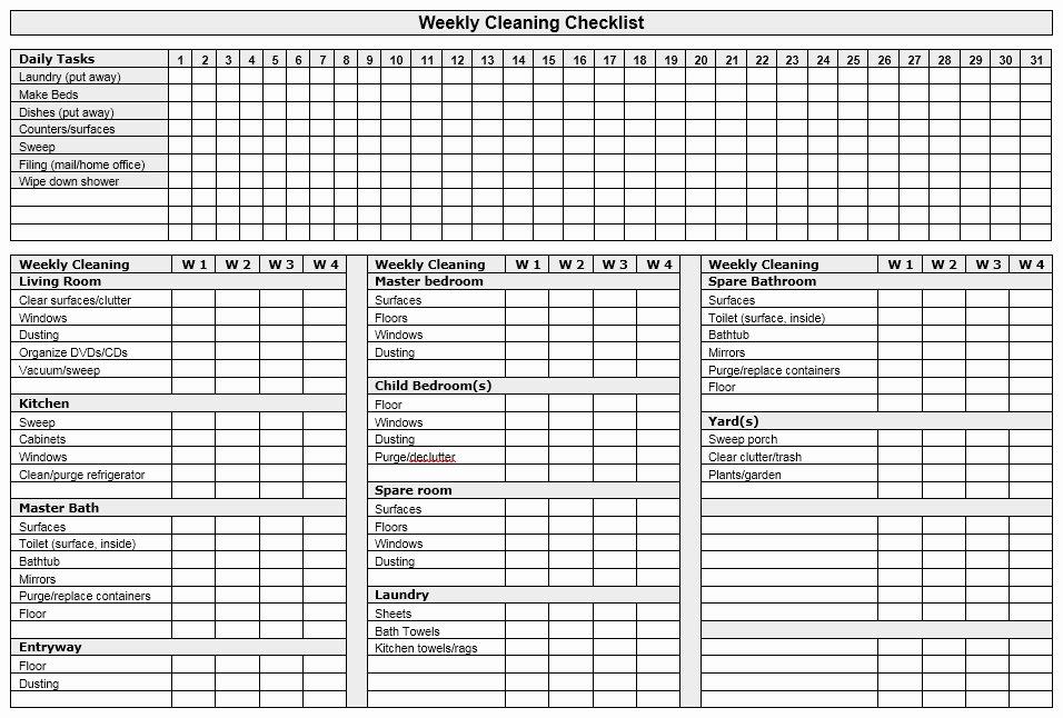 Weekly Chore Chart Templates New 13 Free Sample Weekly Chore List Templates Printable Samples