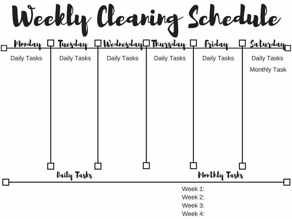 Weekly Cleaning Schedule Template Awesome My Little Sunshines How to Make A Cleaning Schedule A