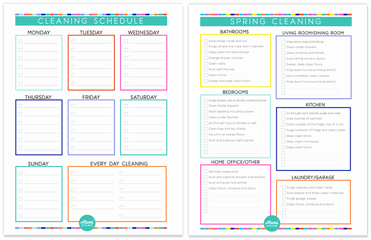 Weekly Cleaning Schedule Template Best Of Time for Spring Cleaning Free Cleaning Schedule