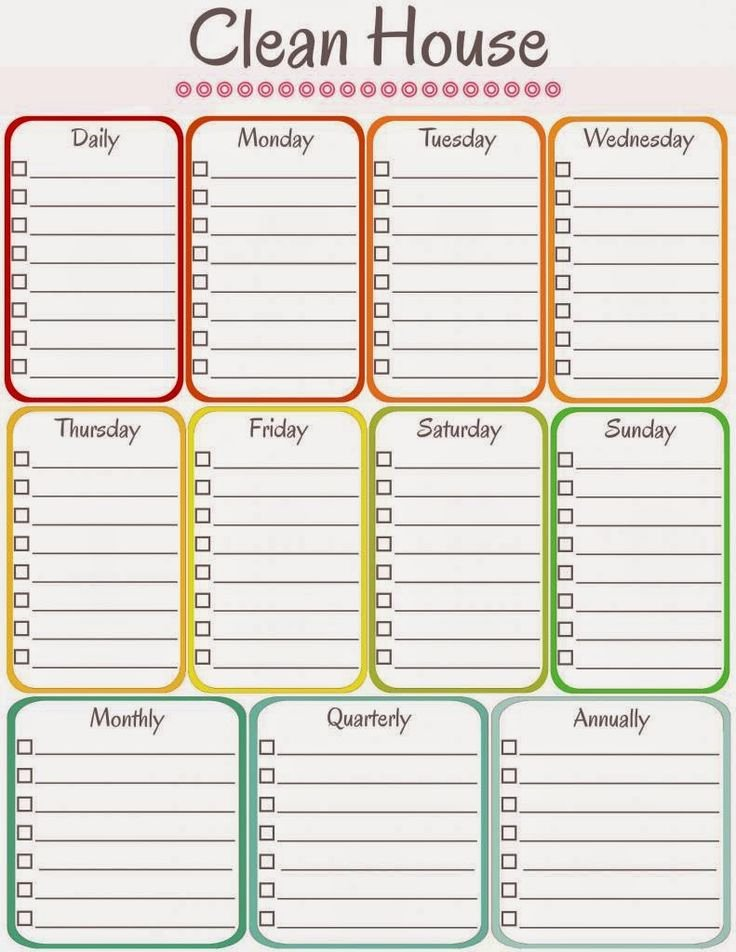 Weekly Cleaning Schedule Template Elegant Amy S Notebook 5 Printable Cleaning Schedules