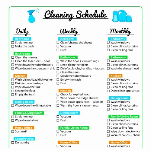 Weekly Cleaning Schedule Template Inspirational Keep Your Home Clean with A Printable Cleaning Schedule