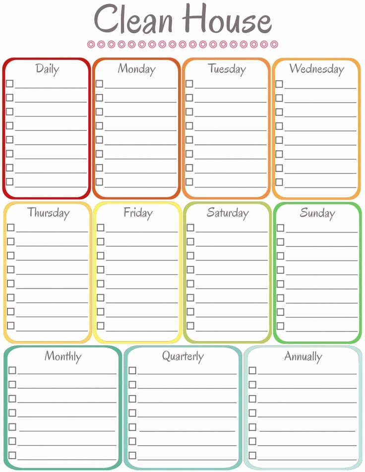 Weekly Cleaning Schedule Template Unique Best 25 Cleaning Schedule Templates Ideas On Pinterest