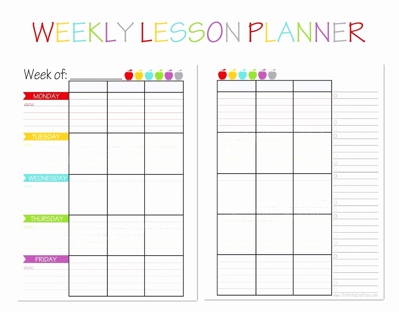 Weekly Lesson Plan Template Elementary Elegant 10 Weekly Lesson Plan Templates for Elementary Teachers