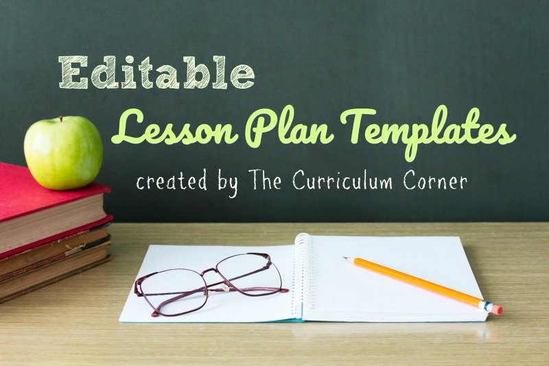 Weekly Lesson Plan Template Elementary New Lesson Plan Templates the Curriculum Corner 123