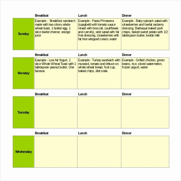 Weekly Meal Planner Template Excel Best Of 47 Menu Templates Free Excel Pdf Word Psd