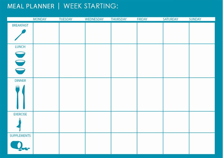 Weekly Meal Planner Template Excel Best Of Monthly Weekly Meal Planner Template Microsoft Excel
