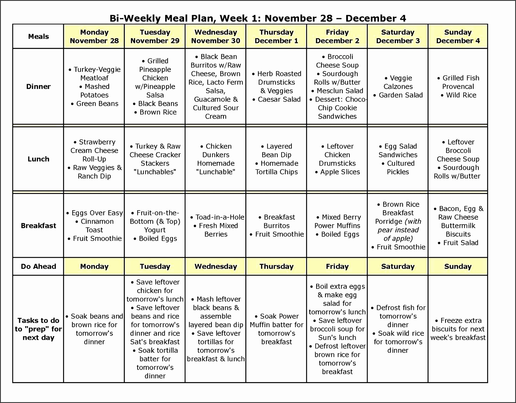 Weekly Meal Planner Template Excel Elegant 6 How to Make Monthly Meal Planner In Excel