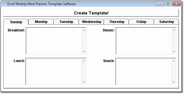 Weekly Meal Planner Template Excel Elegant Id Card Template Design software Home & Education
