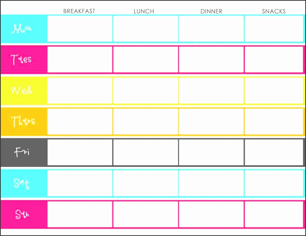 Weekly Meal Planner Template Excel Inspirational 10 Monthly Meal Planner Sample Sampletemplatess