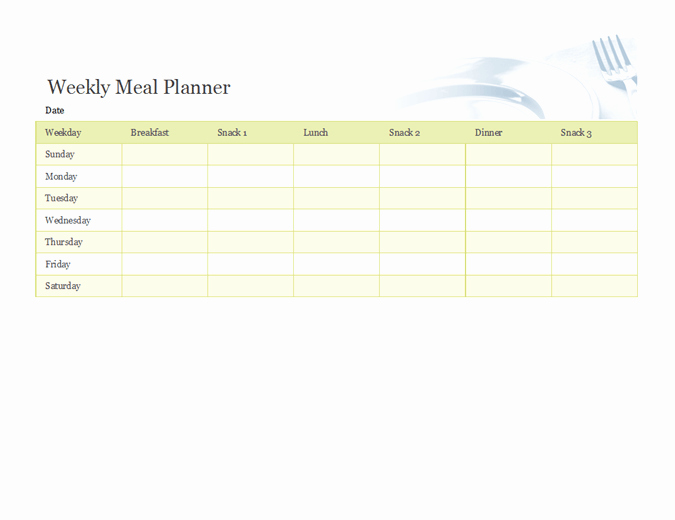 Weekly Meal Planner Template Excel Lovely Download Lunch Related Excel Templates for Microsoft Excel